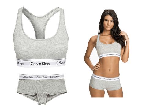Calvin Klein Modern Cotton undertøj BH og Hipster sporty
